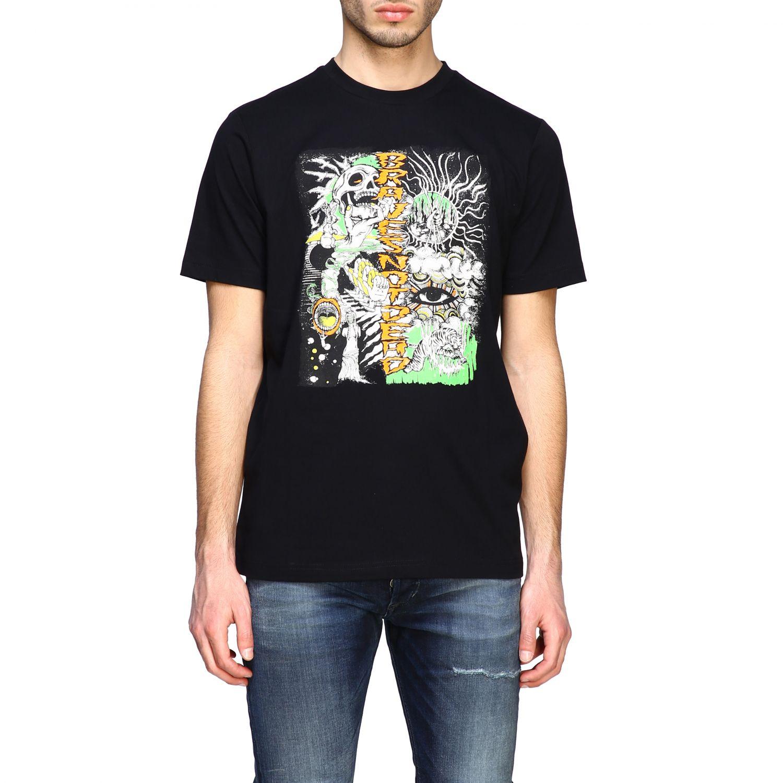T-Shirt Diesel: Diesel T-Shirt mit Rundhalsausschnitt und Skate Print schwarz 1