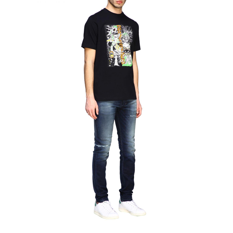 T-Shirt Diesel: Diesel T-Shirt mit Rundhalsausschnitt und Skate Print schwarz 2
