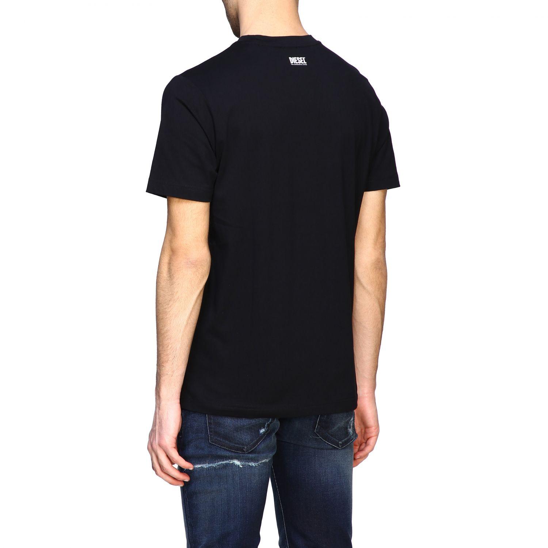 T-Shirt Diesel: Diesel T-Shirt mit Rundhalsausschnitt und Skate Print schwarz 3