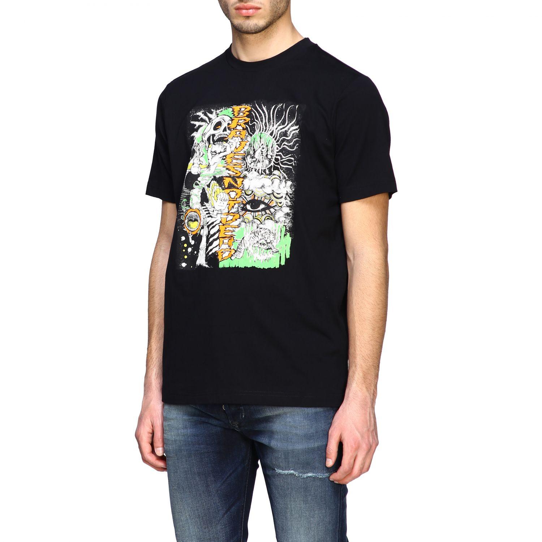 T-Shirt Diesel: Diesel T-Shirt mit Rundhalsausschnitt und Skate Print schwarz 4