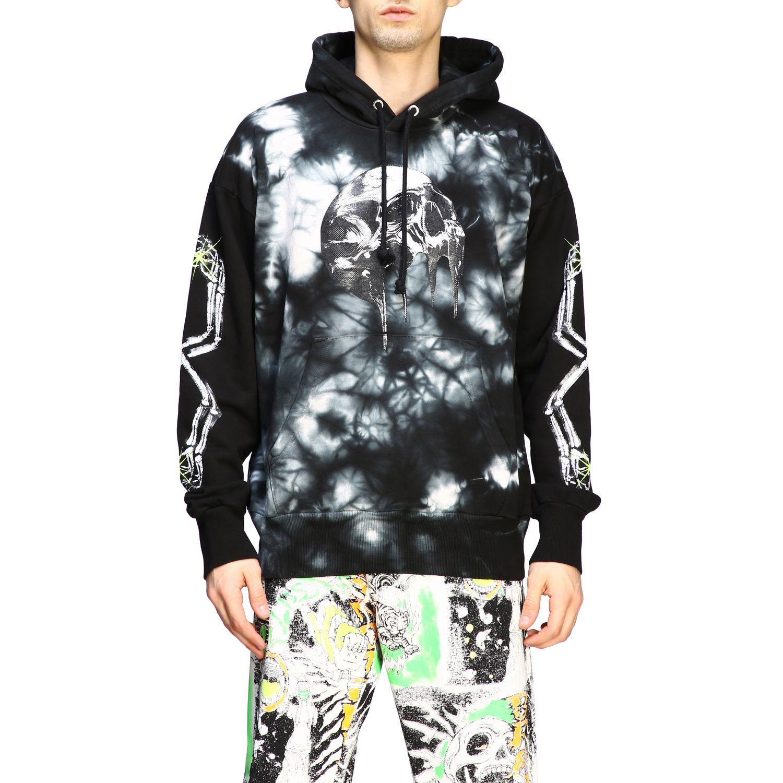 Sweatshirt Diesel: Diesel Kapuzen Pullover mit tie dye Print schwarz 1