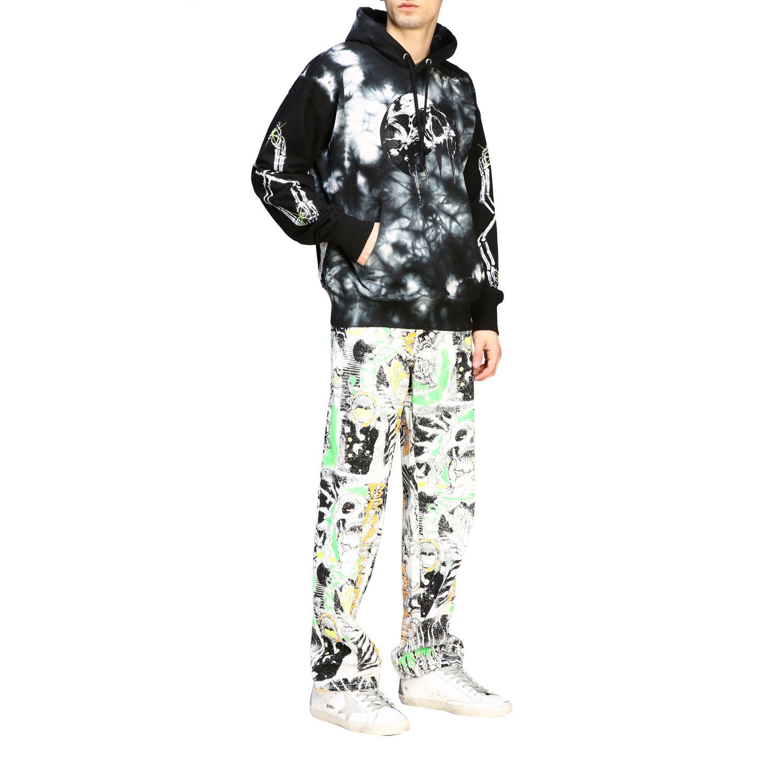 Sweatshirt Diesel: Diesel Kapuzen Pullover mit tie dye Print schwarz 2