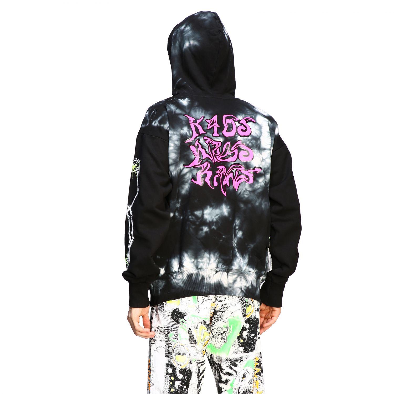 Sweatshirt Diesel: Diesel Kapuzen Pullover mit tie dye Print schwarz 3