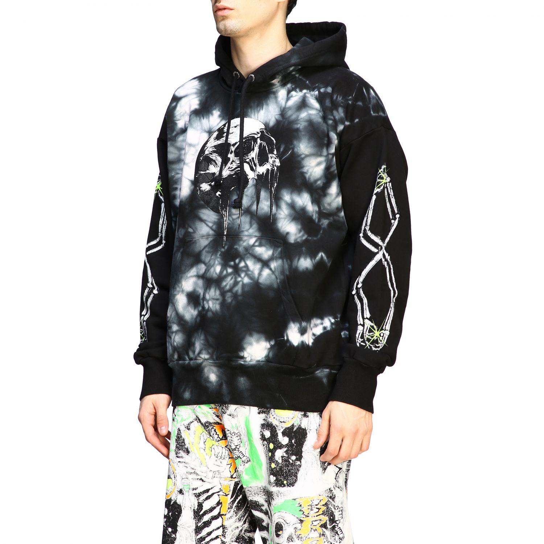 Sweatshirt Diesel: Diesel Kapuzen Pullover mit tie dye Print schwarz 4