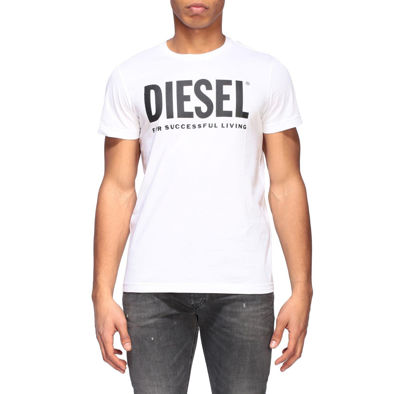 T-Shirt Diesel: Diesel T-Shirt mit Rundhalsausschnitt und Logo Print grau 1