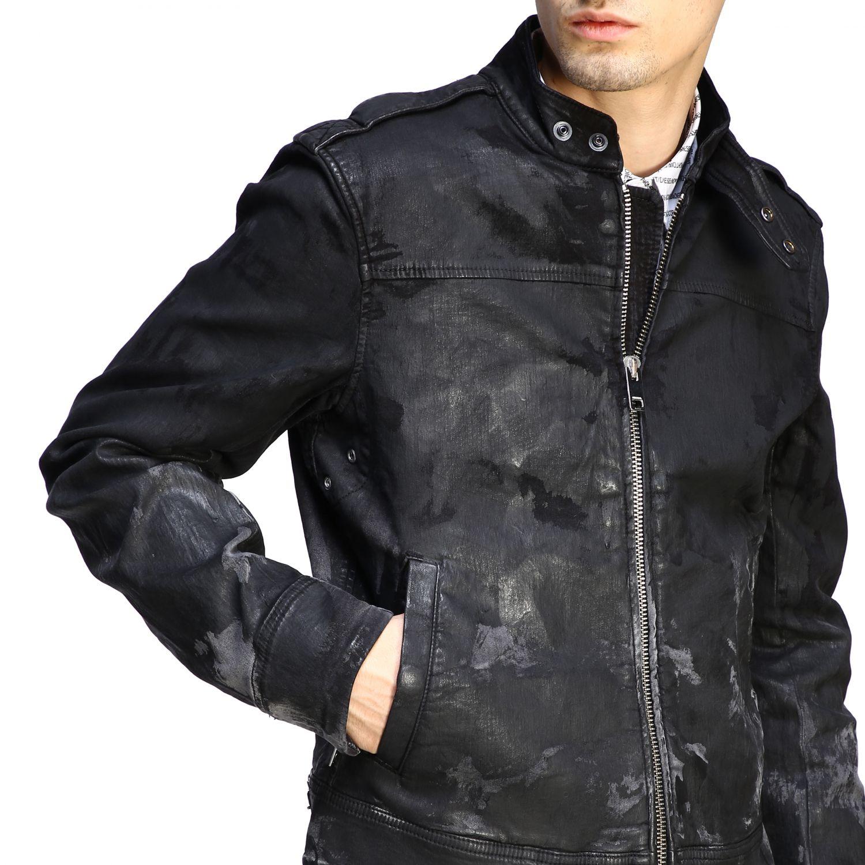 Jacke Diesel: Diesel Biker Jacke schwarz 5