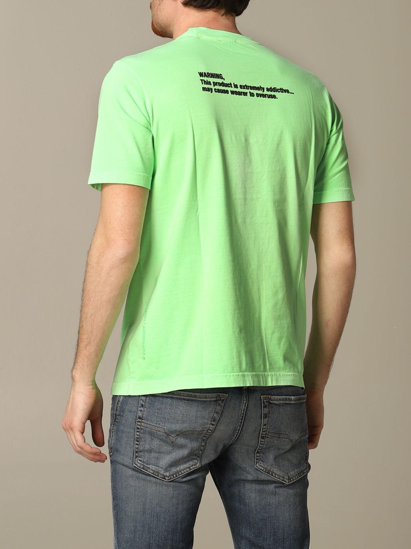 T-Shirt Diesel: T-shirt herren Diesel grün 2