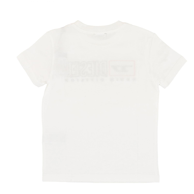T-shirt Diesel: T-shirt Diesel a maniche corte con logo bianco 2