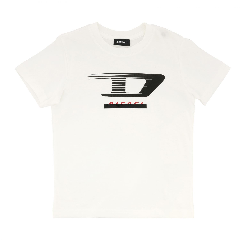 Diesel short-sleeved T-shirt with logo white 1
