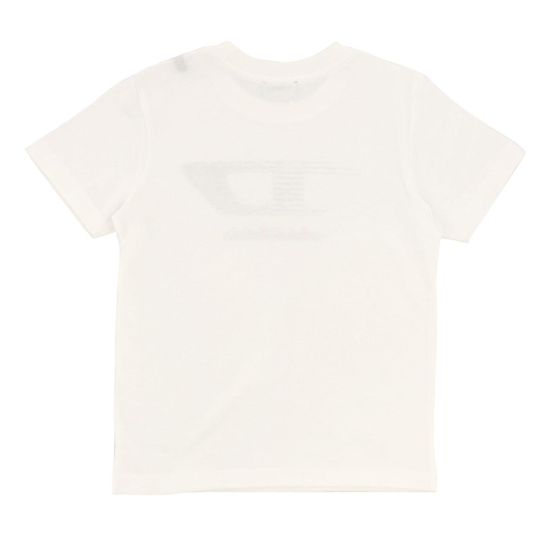 Diesel short-sleeved T-shirt with logo white 2