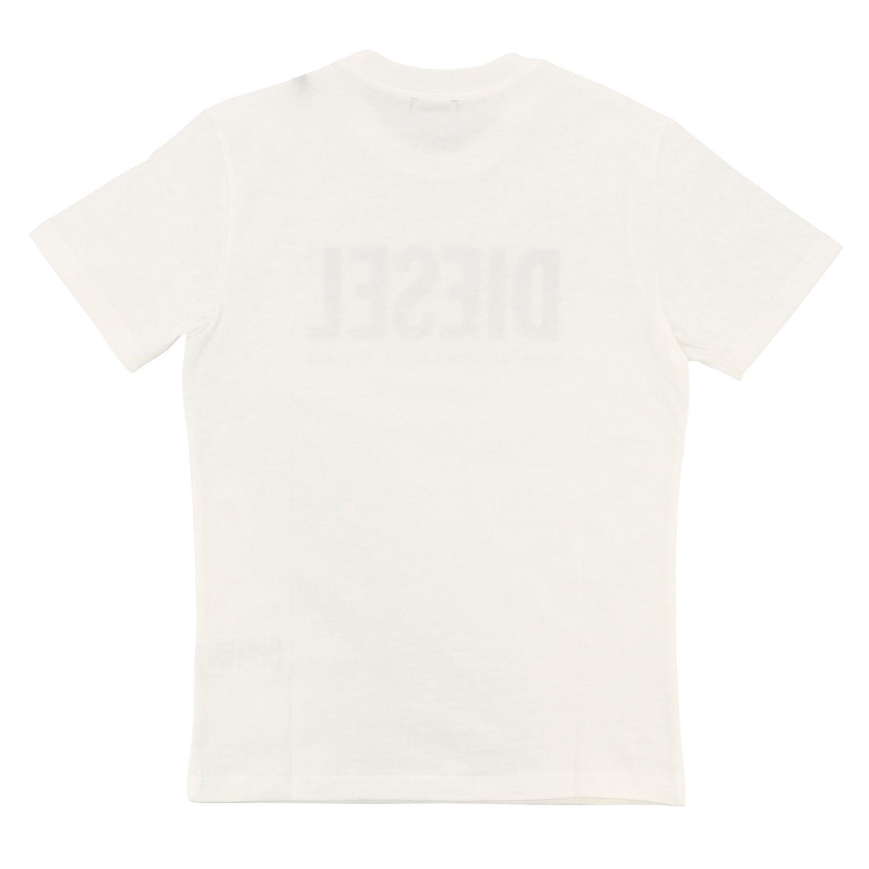 T-shirt Diesel: T-shirt Diesel a maniche corte con stampa logo bianco 2