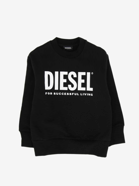 Maglia Diesel: Felpa Diesel a girocollo con logo nero 1