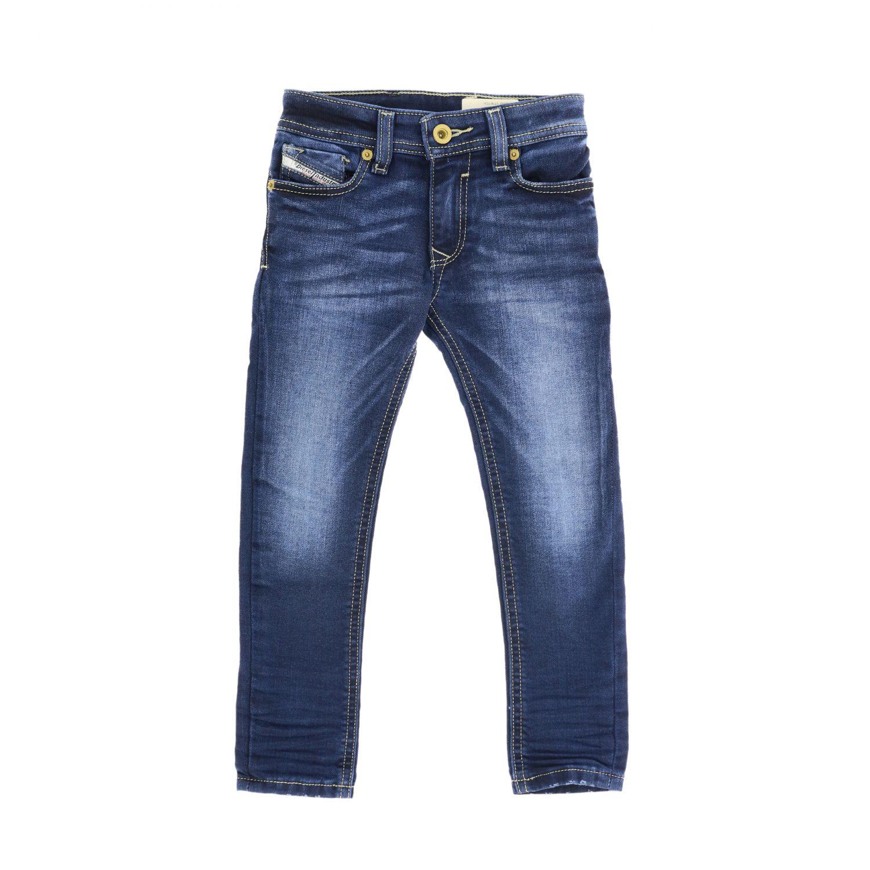 Diesel skinny fit jeans in used denim blue 1