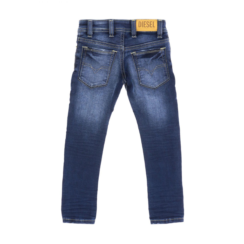 Diesel skinny fit jeans in used denim blue 2