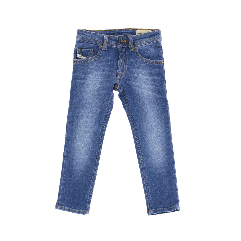 Diesel slim fit jeans in used denim denim 1