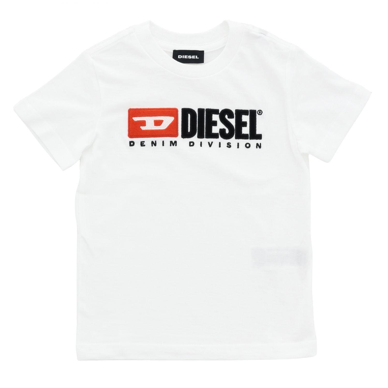T-shirt enfant Diesel blanc 1