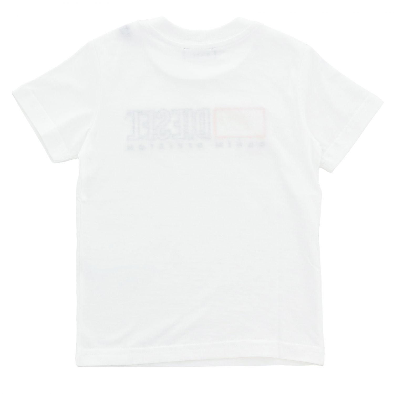 T-shirt enfant Diesel blanc 2