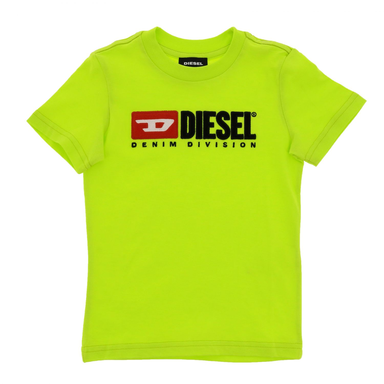 Футболка с коротким рукавом и логотипом Детское Diesel желтый 1
