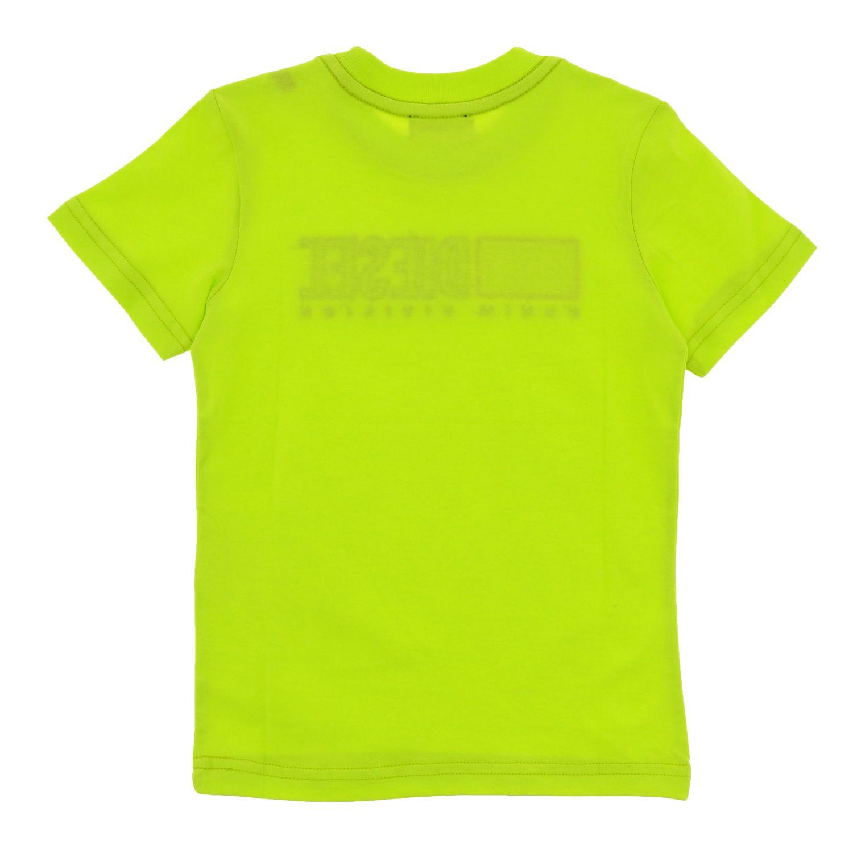 Футболка с коротким рукавом и логотипом Детское Diesel желтый 2