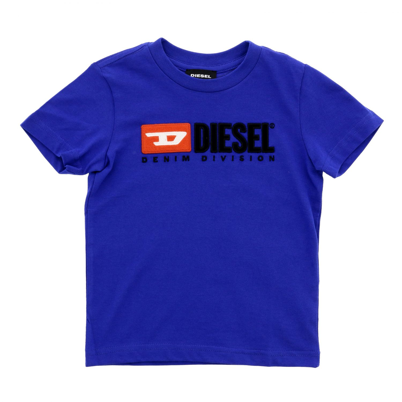 T-shirt Diesel: T-shirt Diesel a maniche corte con logo royal 1