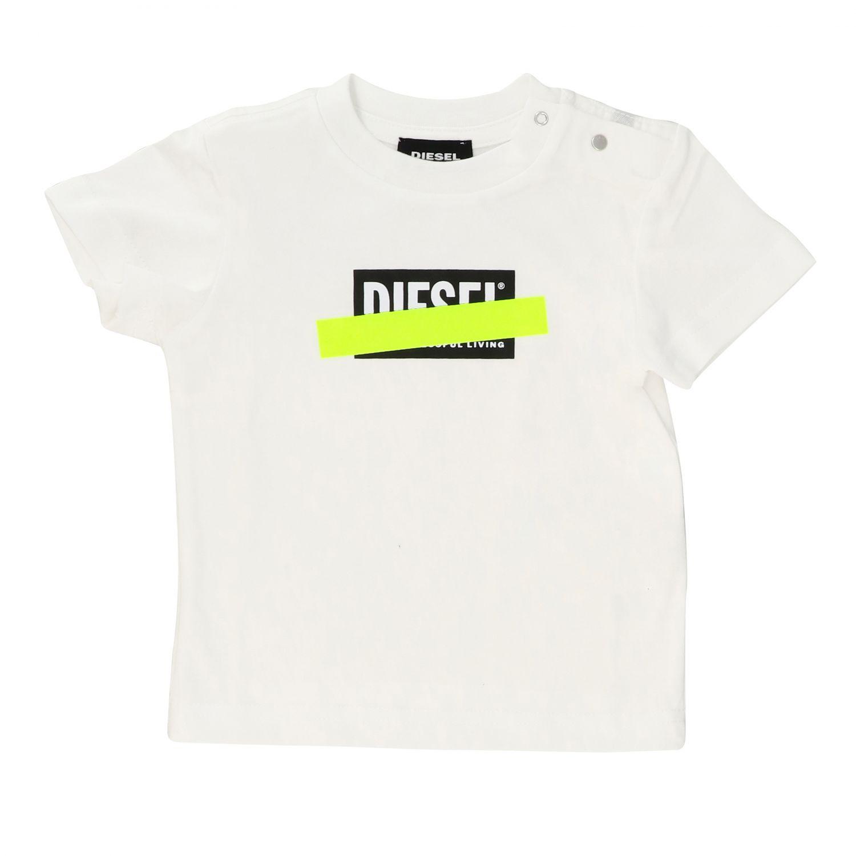 T-shirt Diesel: T-shirt Diesel a maniche corte con logo bianco 1