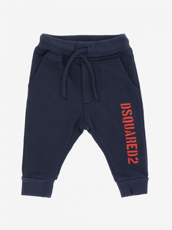 Pantalon de jogging Dsquared2 Junior avec logo bleu 1