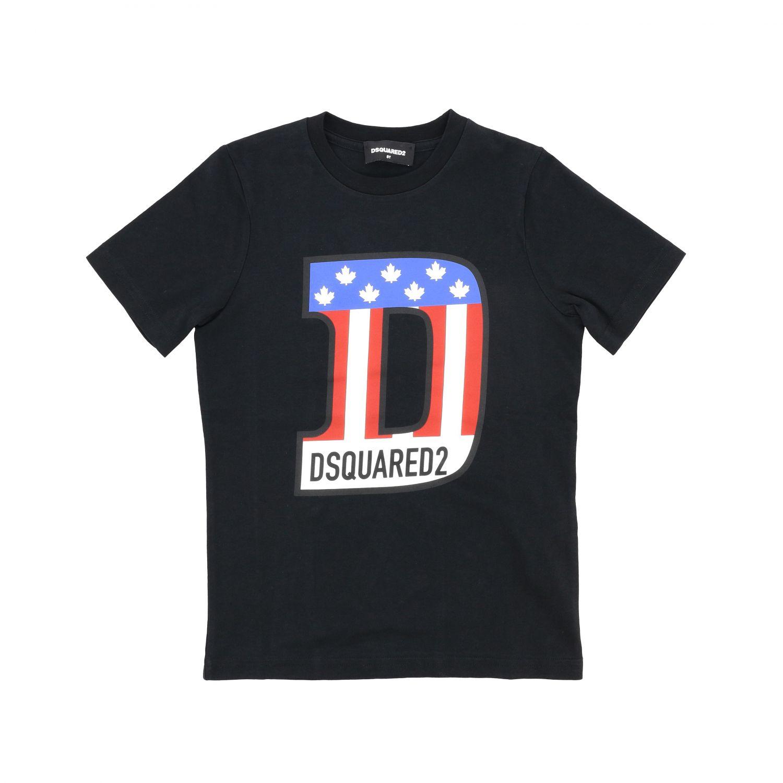 T-shirt Dsquared2 Junior: T-shirt Dsquared2 Junior a maniche corte con stampa logo giallo 1