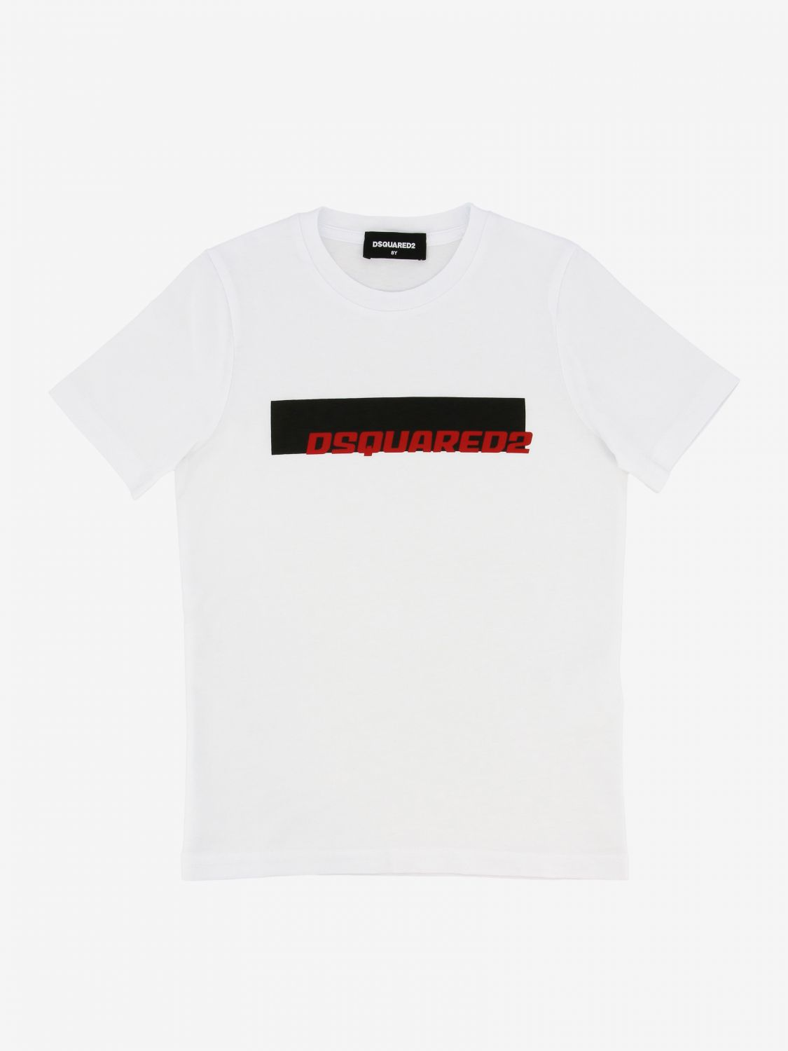 T-shirt Dsquared2 Junior: T-shirt Dsquared2 Junior con stampa logo bianco 1