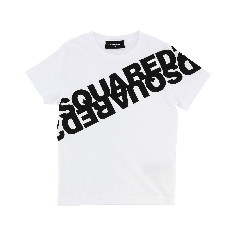 T恤 Dsquared2 Junior: Dsquared2 Junior logo印花短袖T恤 白色 1