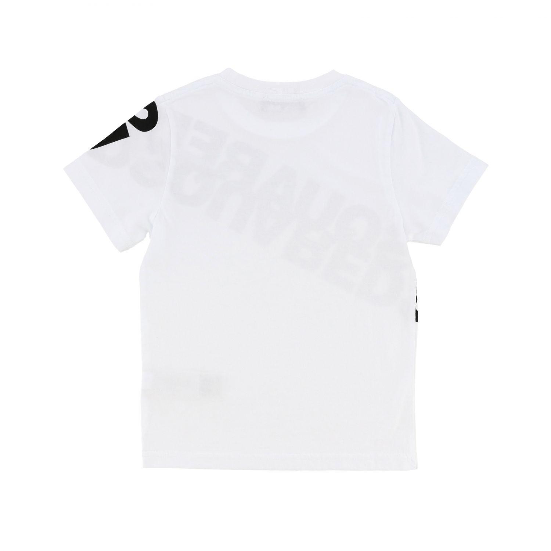 T恤 Dsquared2 Junior: Dsquared2 Junior logo印花短袖T恤 白色 2