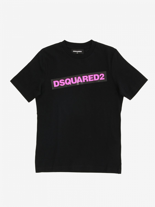 T-shirt Dsquared2 Junior à manches courtes avec logo noir 1 1