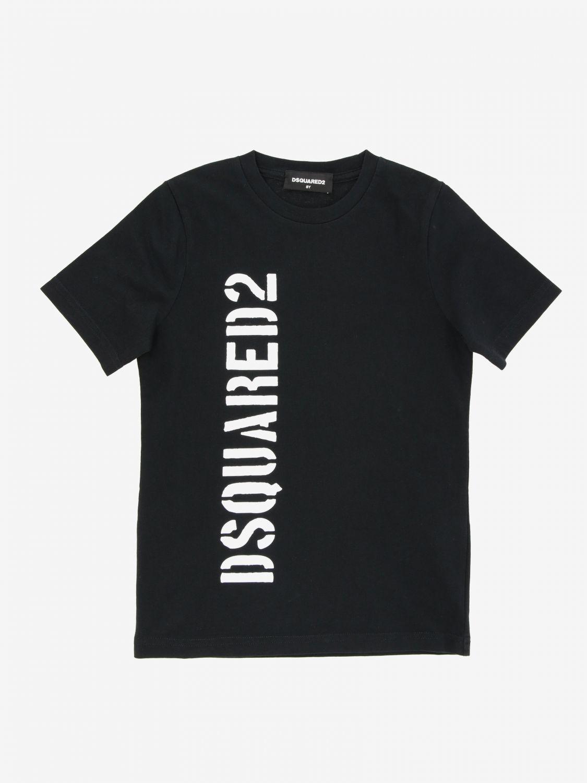 T-shirt Dsquared2 Junior: T-shirt Dsquared2 Junior con stampa logo nero 1