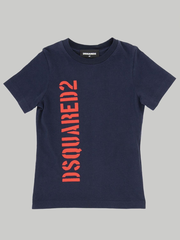 T-shirt Dsquared2 Junior: T-shirt Dsquared2 Junior con stampa logo blue 1