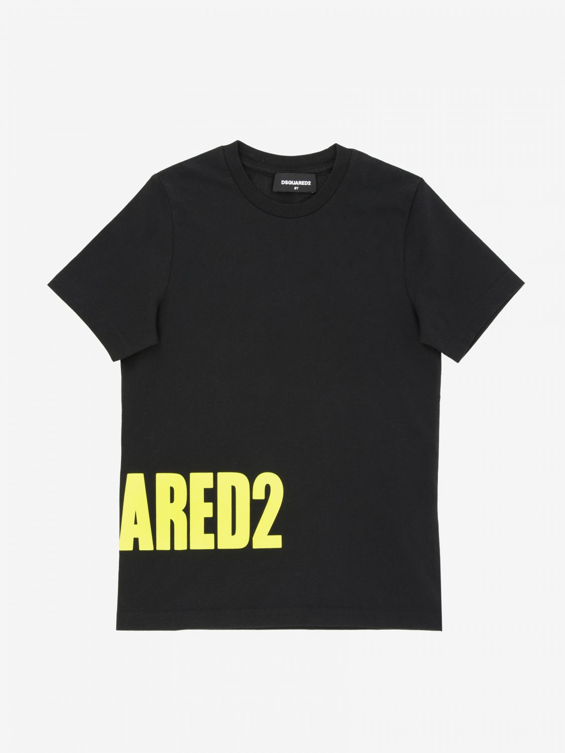 T-shirt Dsquared2 Junior: T-shirt Dsquared2 Junior con stampa logo nero 1