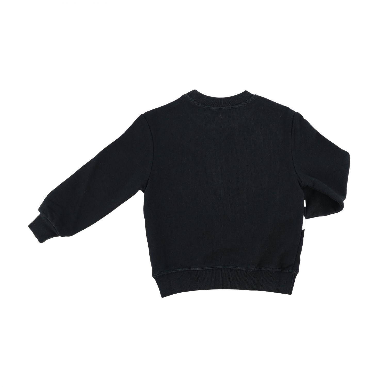 毛衣 Dsquared2 Junior: Dsquared2 Junior logo印花圆领卫衣 黑色 2
