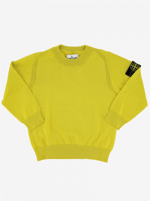 Jumper kids Stone Island yellow 1