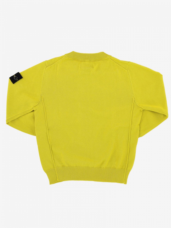 Jumper kids Stone Island yellow 2