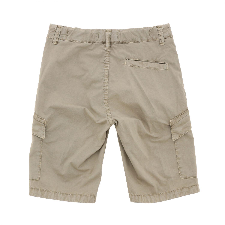 Pantaloncino Stone Island Junior con logo sabbia 2