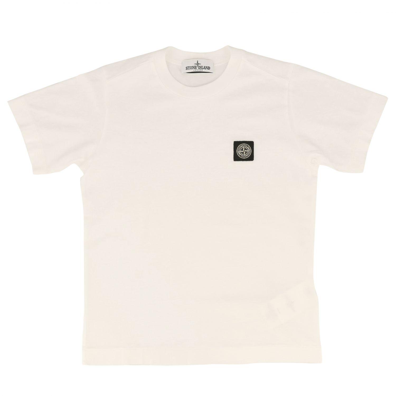 Camiseta niños Stone Island blanco 1