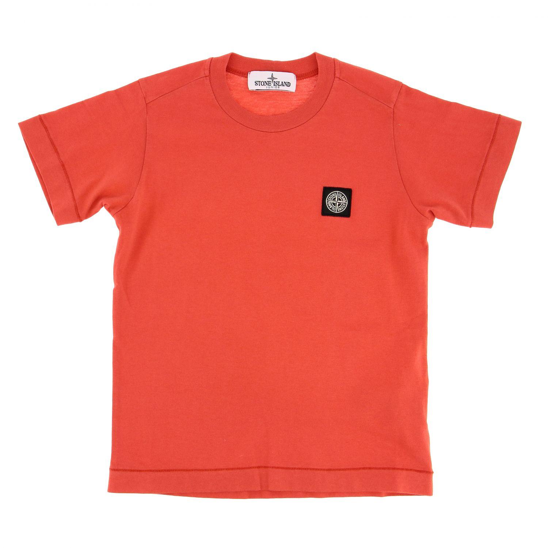 T-shirt kids Stone Island coral 1