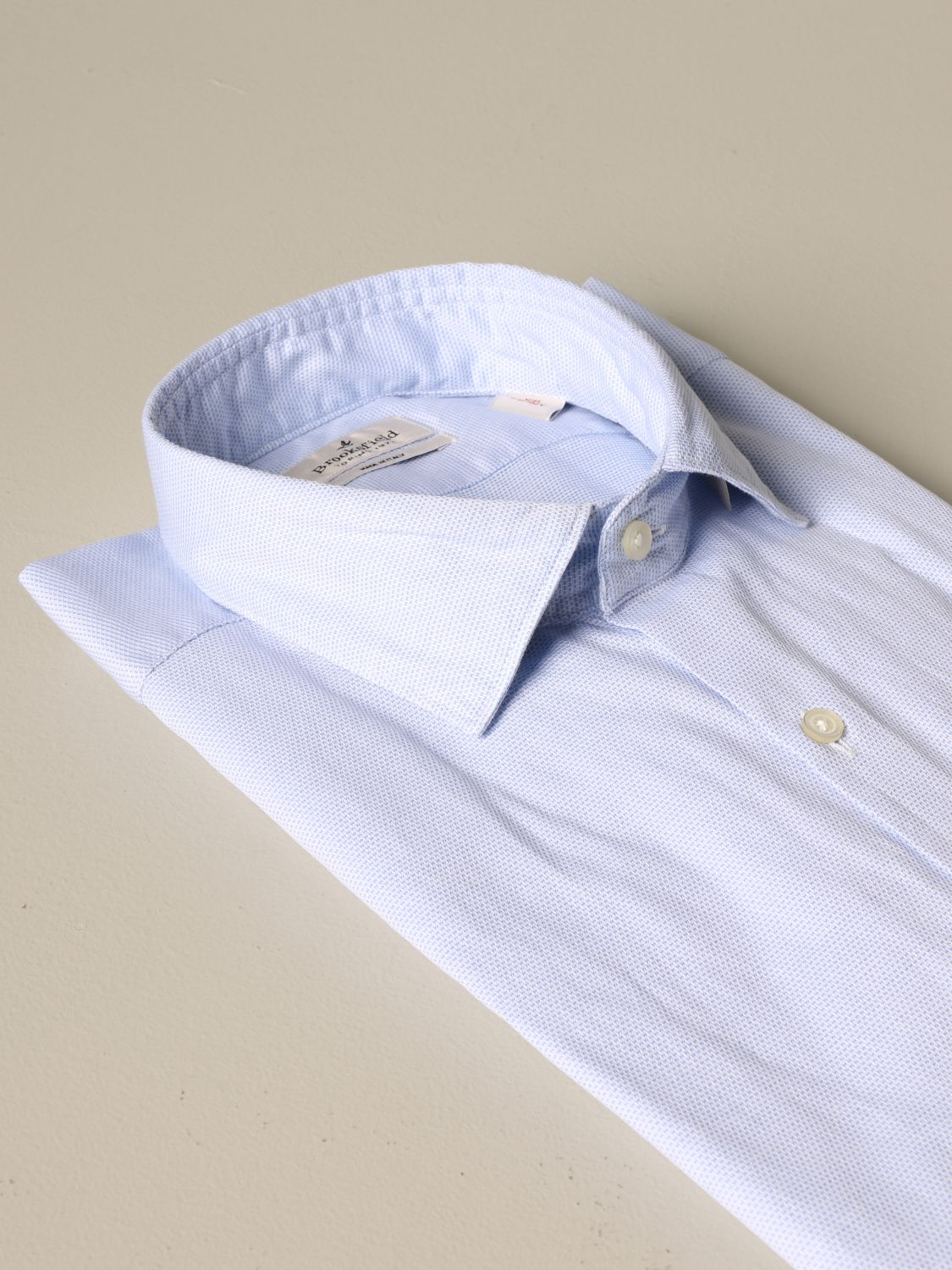 Shirt Brooksfield: Brooksfield slim fit cotton shirt gnawed blue 2