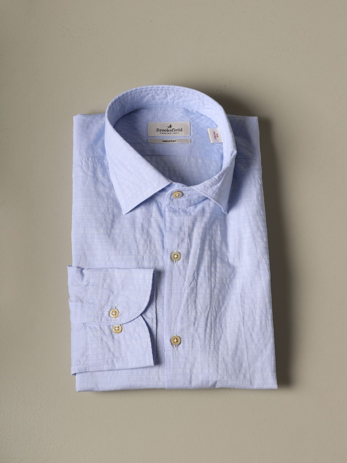 Shirt Brooksfield: Brooksfield cotton shirt gnawed blue 1