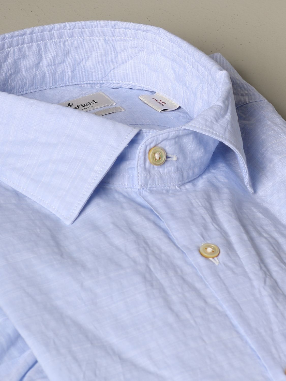 Shirt Brooksfield: Brooksfield cotton shirt gnawed blue 2