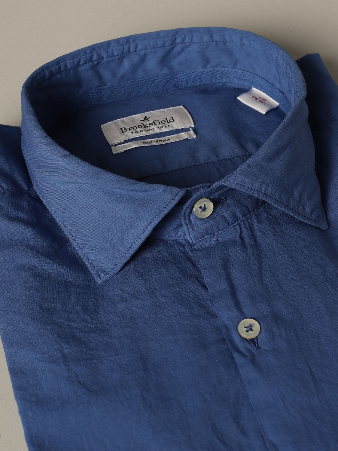 Hemd Brooksfield: Hemd herren Brooksfield hellblau 2