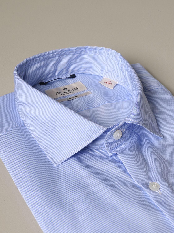 Shirt Brooksfield: Shirt men Brooksfield gnawed blue 2