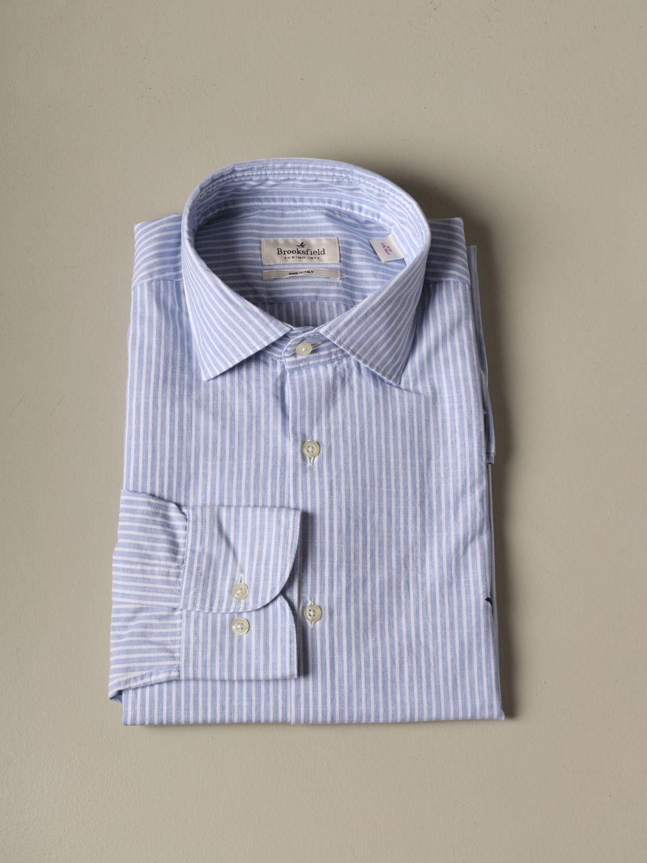 Рубашка Мужское Brooksfield голубой 1