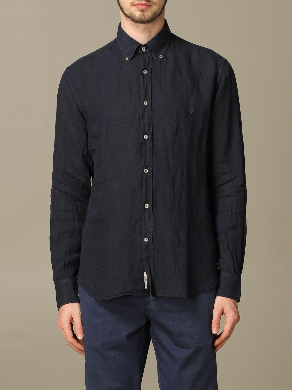 Shirt Brooksfield: Brooksfield slim linen shirt blue 1