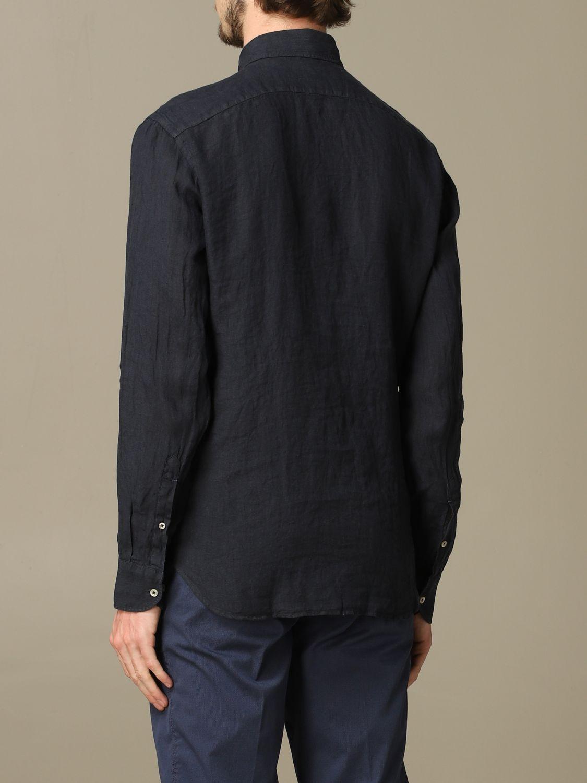 Shirt Brooksfield: Brooksfield slim linen shirt blue 2