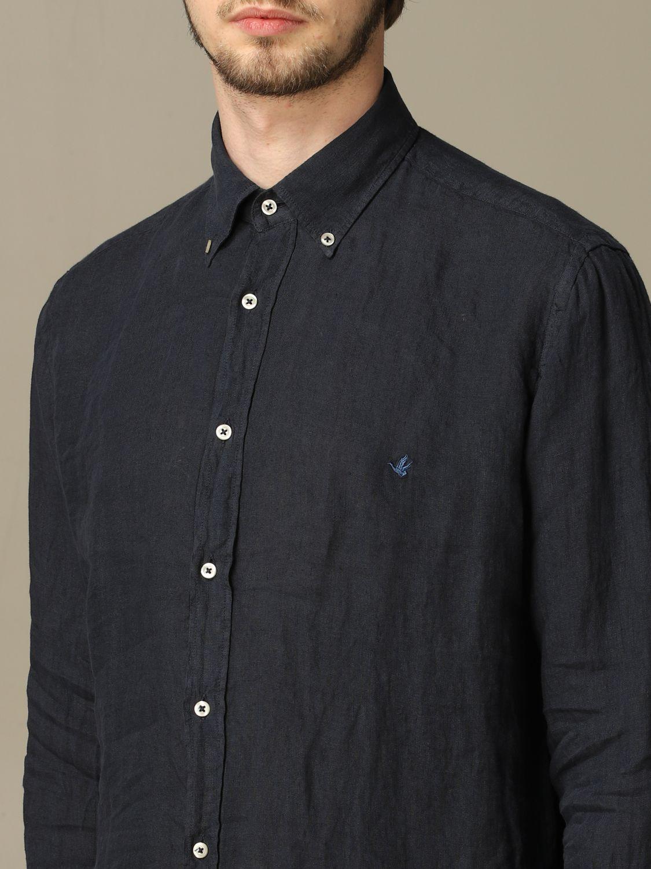 Shirt Brooksfield: Brooksfield slim linen shirt blue 3