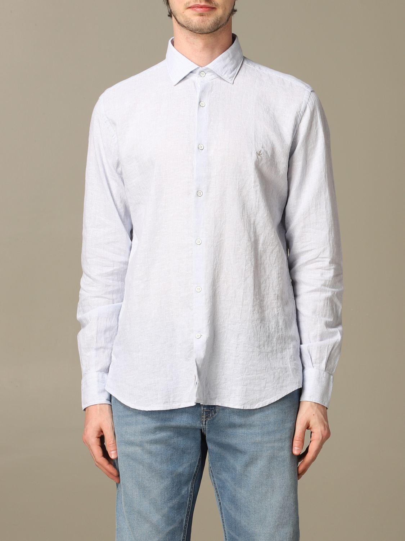 Shirt Brooksfield: Brooksfield shirt in linen blend sky blue 1